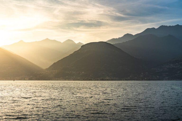 Sonnenuntergang am Comer See - Landschaftsfotografie