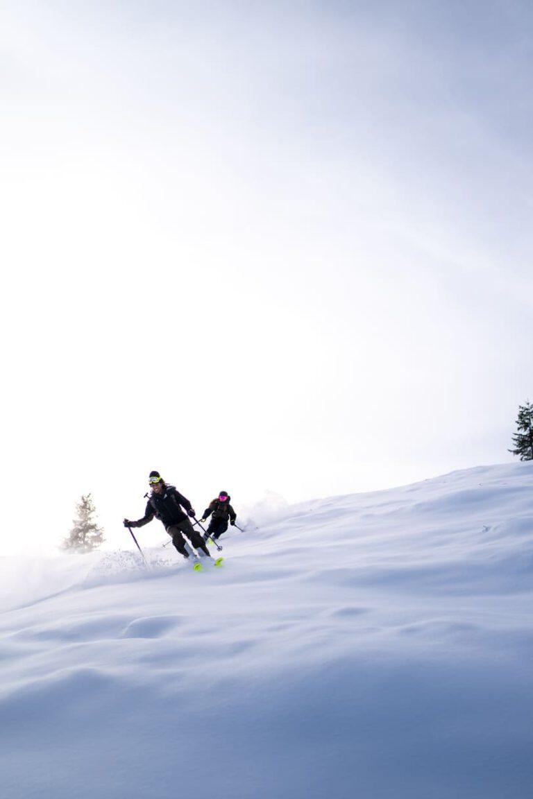 Freerideabfahrt nach einer Skitour