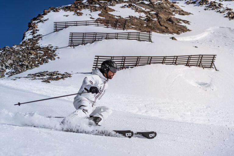Ein Mann beim Skifahren in Sölden - Chris Gollhofer Sport Fotografie