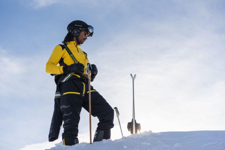 Ein Mann im Skianzug - People Fotografie Chris Gollhofer